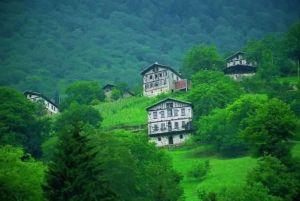 Tepelere tatlı tatlı serpiştirilmiş güzel evler